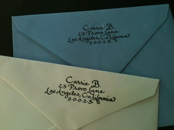 Custom self-inking return address stamps