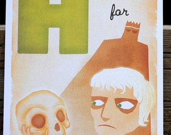 H is for Hamlet - 4x6