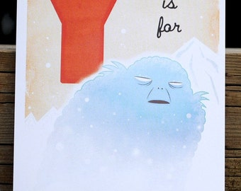Y is for Yeti - 4x6