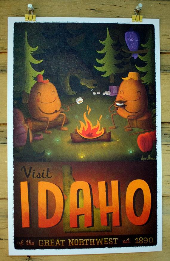 11x17 Idaho Tourism Print
