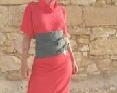 Patent Dress Red Cotton