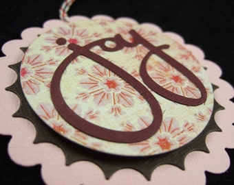 SALE - Christmas Gift Tag - Pink Joy