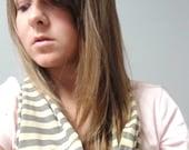 striped cotton circle scarf