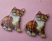 Vintage Cat Stud Earrings
