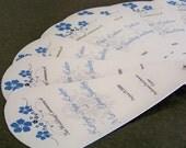Summer Petals in Blue Wedding Program Fans - 4 Panels