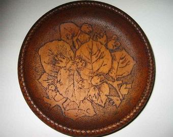 Vintage Ornate Wood Bowl