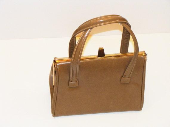 50's-60's Carmel color 1950's handbag