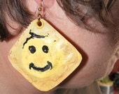Condom Earrings - Yellow Smiley