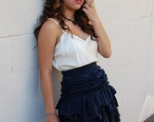 The Navy Rouched Skirt