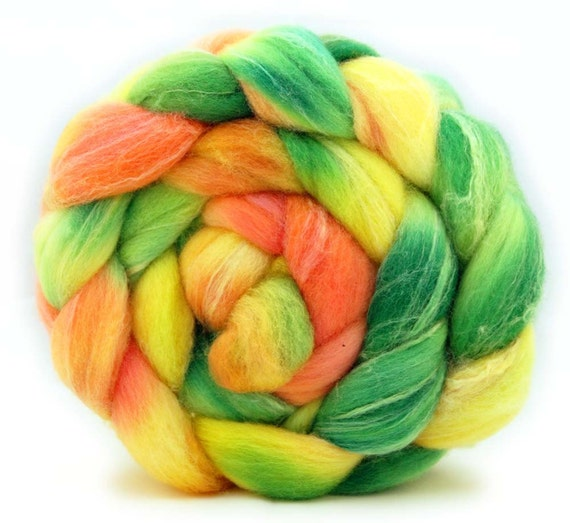 Fruit Punch - Hand Dyed Merino/Silk Top