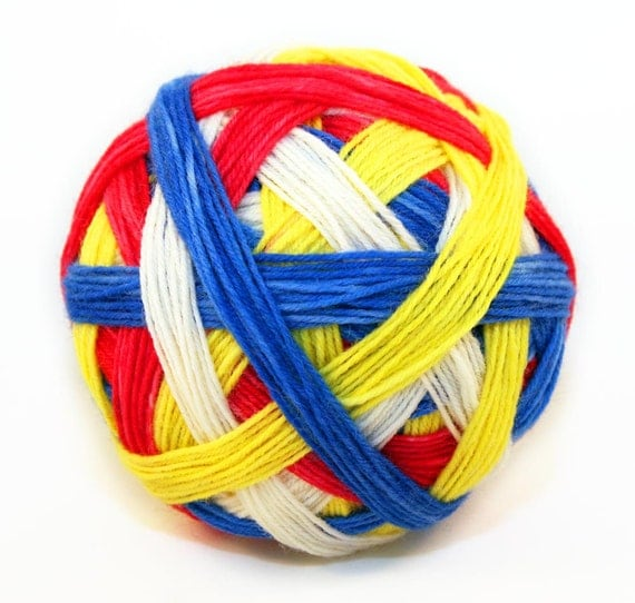 Primaries, no Green - Self Striping Sock Yarn