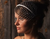 headband birdcage veil