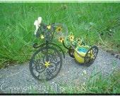 PRH05 Garden On Wheels Holder Template SVG - Decorative Bike - PR