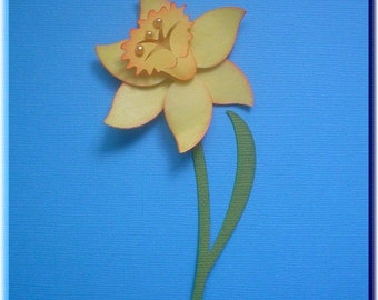 PRA Spring Daffodil Accent SVG file - Scrapbooking, Card making, 3D Projects - PR