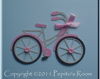 PRA Enjoy The Ride Accent SVG file - Scrapbooking, Card making, 3D Projects - Bike