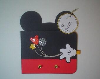 PRH07 Disney Magic Mickey Gift Card Holder Template SVG / Printable PDF Outline - Wallet - PR