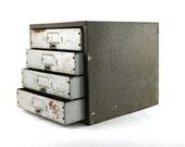Vintage Industrial Metal Machinists Toolbox