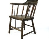 Captain's Chair, Antique Wooden Smokers Bow Seat