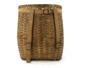 Vintage L.L. Bean Trapper Basket, 1930's Adirondack Allagash Pack