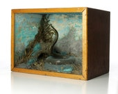 Antique Taxidermy Snake Natural History Diorama