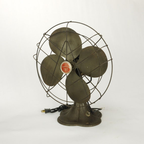 Vintage Emerson Jr 12 inch Oscillating Electric Table Fan