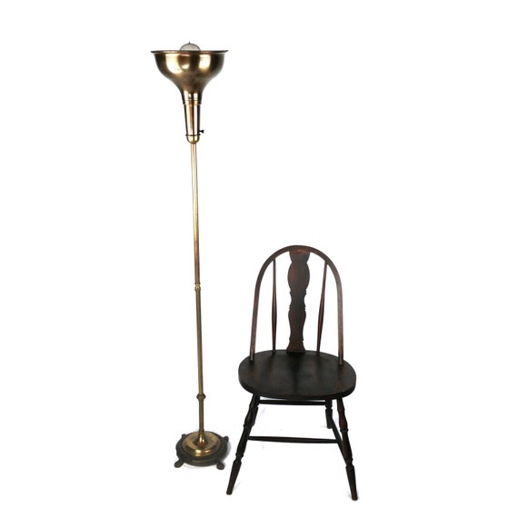 antique art deco torchiere floor lamp by dailymemorandum on etsy. Black Bedroom Furniture Sets. Home Design Ideas