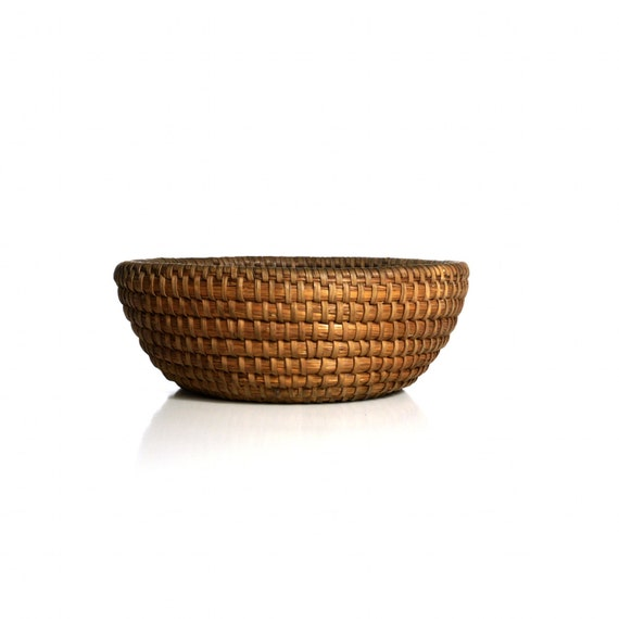 Antique Coil Basket, 19th C. Pennsylvania German Handmade Rye Basket