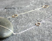 delicate gold and sterling silver circle chain necklace- the maxi