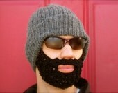 The Original Beard Beanie™ dark gray beard hat - S/M