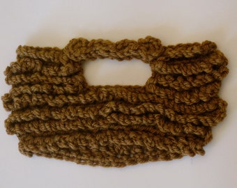 crochet beard and mustache The Original Beard Beanie™ lumberjack style