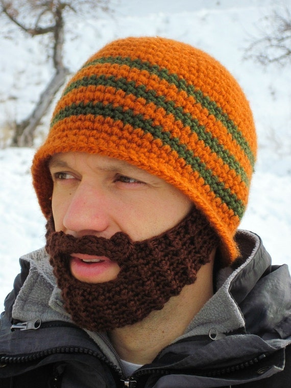 custom beard hat - beard beanie - crochet hat with beard - custom made hat with beard The Original Beard Beanie™ CUSTOM Color