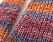 Cozy Calves Handknit Legwarmers- soy and wool OOAK