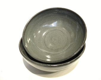 """6"""" Handmade Bowl-- Slate Grey- Hand crafted pottery--  for soup / cereal / salad"""