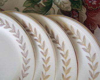 Set of 4 Desert Plates Made in the USA by Knowles