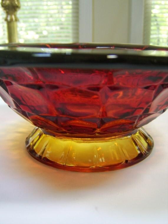 1970s Tiara Glassware Sunset Constellation  Bowl