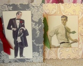 Vintage Style Greeting Cards - for a man - Valentine
