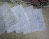 Lot of Antique Handkerchiefs - Madeira embroidery