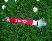 Personalized Baseball Binky Clip