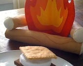 Campfire and S'mores Felt Playset