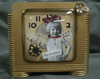 My Dear Friend Repurposed  Vintage Clock