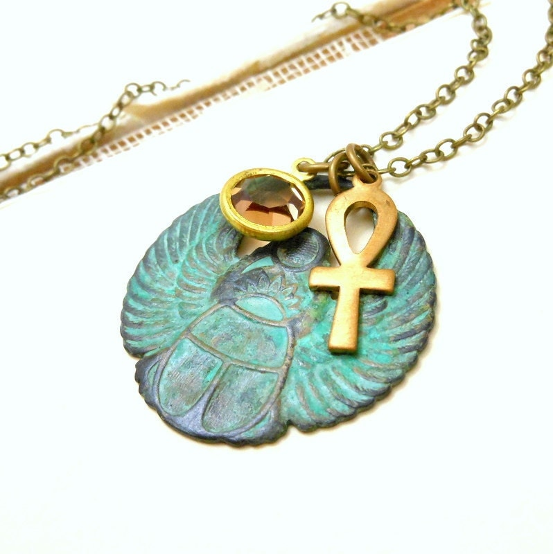 egyptian scarab necklace - photo #7