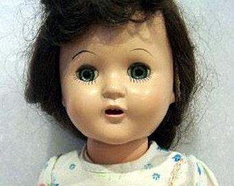 "Horsman  "" Cindy"" 1950's  Hard Plastic Walking Doll"