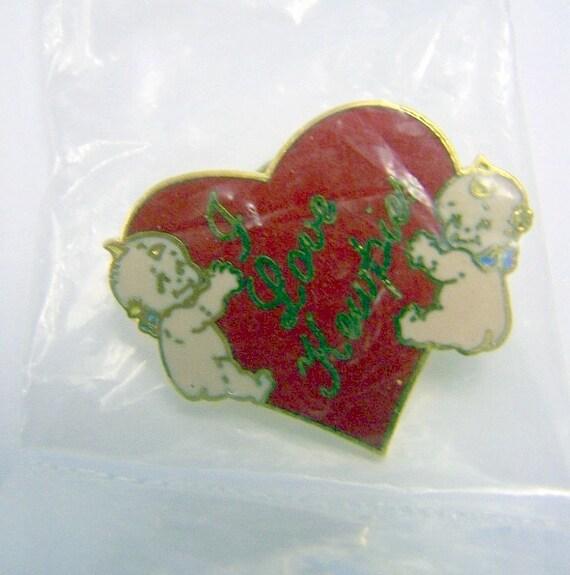Vintage I Love Kewpie Pin