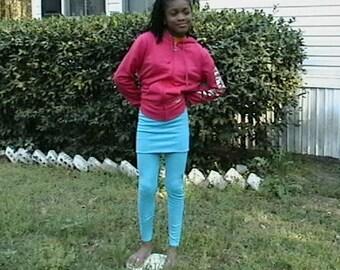 Little Girls Skirted Leggings
