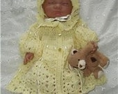 Nadia Jacket and Bonnet Baby Crochet Pattern