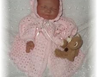 Victoria Jacket and Bonnet Baby Crochet Pattern