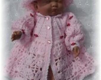 Spirit of Summer Jacket and Brimmed Hat Baby Crochet Pattern