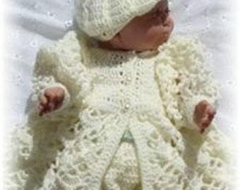 Baby Crochet Pattern 3 piece - LE PETIT BIJOU