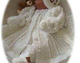Baby Crochet Pattern 4 piece - HOLLY
