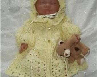Nadia Jacket and Bonnet Baby Crochet Pattern